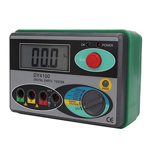 Testeur de résistance DY4100 Testeur de résistance de la Terre physique Testeur de Megaohmmètre Mesureur Écran LCD Numérique avec Sac (DY4100 Digital Display)