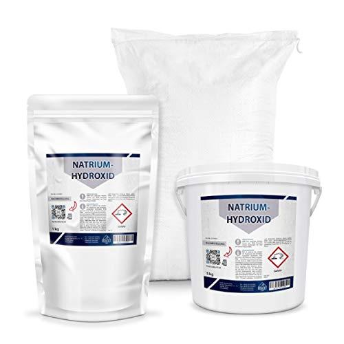 Natriumhydroxid, Ätznatron, NaOH, kaustisches Soda | 1kg Perlen, z.B. Herstellung von Seife (1, 5, 25 Kg)