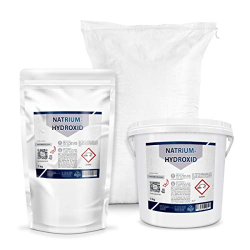 Natriumhydroxid, Ätznatron, NaOH, kaustisches Soda | 5kg Perlen, z.B. Herstellung von Seife (1, 5, 25 Kg)