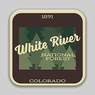 JB Print White River National Forest Explore Wanderlust Camping Hiking Vinyl Decal Sticker Car Waterproof Car Decal Bumper Sticker 5