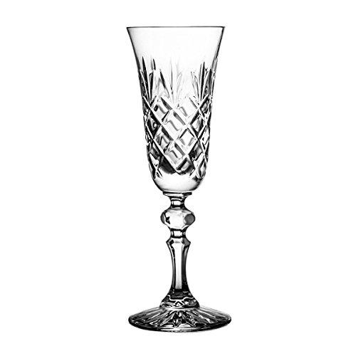 Crystaljulia Sektglas, Kristall, 150ml, 6.5 x 6.5 x 20 cm, 6-Einheiten