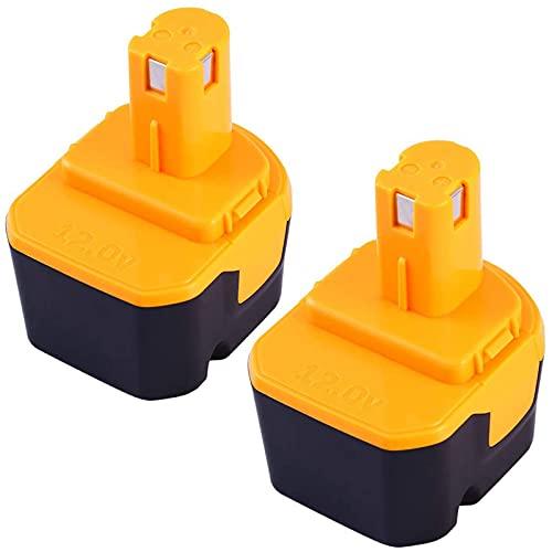Boetpcr 互换品 RYOBIリョービ B-1203M B-1203F2 電池パック対応 12V 3.0Ah互換バッテリー B-1203C B-1203M1 B-1203F3 BPL-1220 B-1220F2代替電池 DIY工具・作業用電池 二個セット