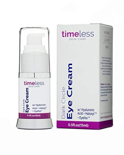 Newly Launched Timeless Skin Care Dark Circle Eye Cream w/ EyelissTM, HaloxylTM & Hyaluronic Acid 15ML / 0.5 OZ.- Authorised UK Seller