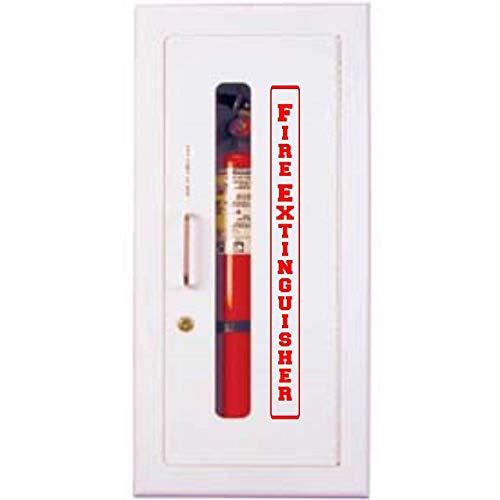 Vertical Premium Self-Adhesive Vinyl Fire Extinguisher Cabinet RED decal 2