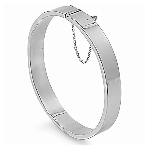 Gemlings Sterling Silber Armreif Armband [ovale Form Rechteckrohr] | Schmuck für Frauen/Mädchen [9x60x65mm]