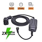 TOPQSC Ladegerät Wallbox Mobile Ladestation für Elektroautos Typ 2 Komplettset Adapter,Tragbares EV-Ladekabel Ladebox 10A DE 7.5m / 16.4ft