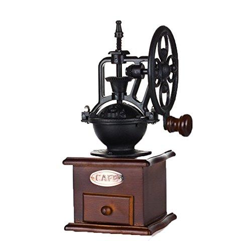 Zamac-home grains de café Moulin Grande roue Style manuel Moulin à café machine à café à la main.