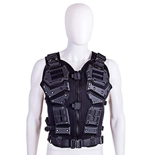 DUS Chaleco Táctico Molle Chaleco Militar Hombre Tactical Vest para Airsoft Paintball Nerf CS