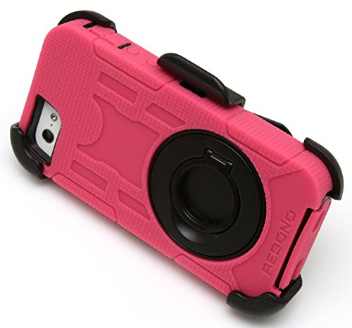 BEST SHOPPER Rugged Defender Armor Hard Back Shockproof Rotating Belt Clip/Kickstand Case Cover Replacement Part Compatible with Apple iPhone 6 Plus - Pink