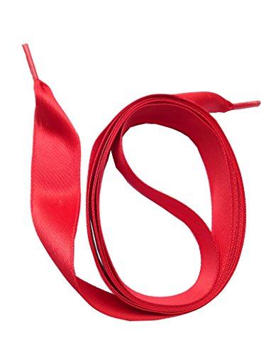 SNORS SATIN breite flache Schnürsenkel ROT 90cm, 16mm – sehr reißfest, waschbar, bügelbar, edler Look, Satinsenkel - TOP Qualität 100% MADE IN GERMANY - ÖkoTex Verzicht auf unnötige Verpackung