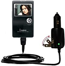 Unique Gomadic Car and Wall AC/DC Charger designed for the Cowon iAudio X5L – Two Critical Functions, One Great Charger (includes Gomadic TipExchange)