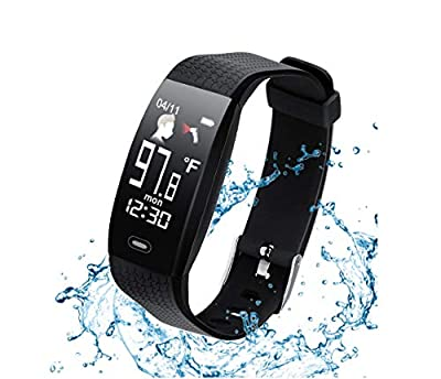 Smart Wristband Tracker,Activity Fitness Watch with Sleep Heart Rate Temperature Monitor,Intelligent Reminder Activity Tracker as Great Gift for Men Women
