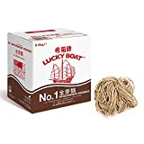 LUCKY BOAT Thick Noodles, Restaurant Quality Noodles, No.1 Thick Noodles, Egg Free Noodles, Bulk...