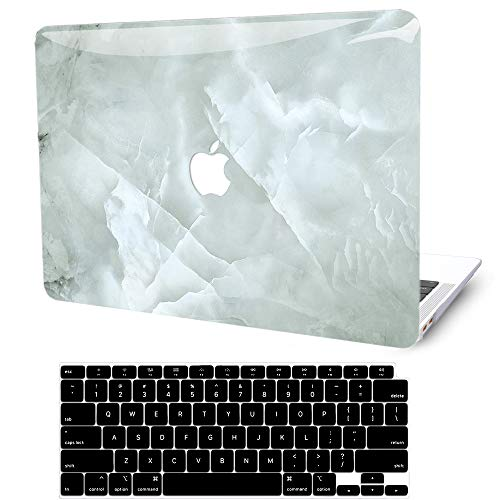 MacBook Air 13 inch Case 2020 2019 2018 Release A2337 M1 A2179 A1932, G JGOO MacBook Air 2020 Case, Plastic Hard Shell Case + Keyboard Cover for Apple Mac Air 13.3 with Retina Display Touch ID, Marble
