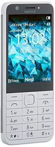 Nokia RM-1172 Handy 230, 7,11 cm (2,8 Zoll) (Dual SIM, MP3 Player, microSD Kartenleser, 1200mAh Akku, Taschenlampe) Silber