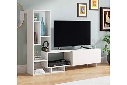 Tv cum display unit in white