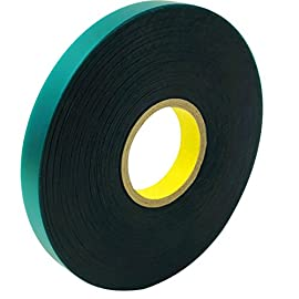 Ugold 8mil Extra Thick 150 Feet x 1/2'' Stretch Tie Tape Plant Ribbon Garden Green Vinyl Stake 1 Green ribbon stretches with plant growth 0.48 inch x 150 Feet x 8 mil. Non-adhesive. The tape is 8mil thick, so it's stronger! The PVC (polyvinyl chloride) tape used for training and staking plants