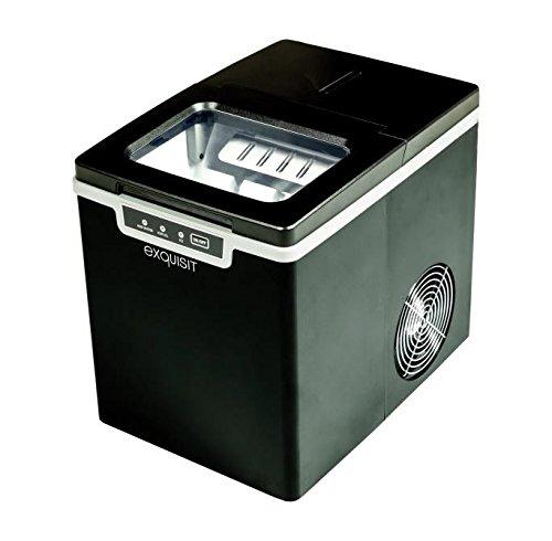 Exquisit Eiswürfelmaschine EM 6001 sw | Ice Maker | Eiswürfelproduktion in 7 Minuten | 1,9 Liter Wassertank | ohne Wasseranschluss | 120 W | schwarz