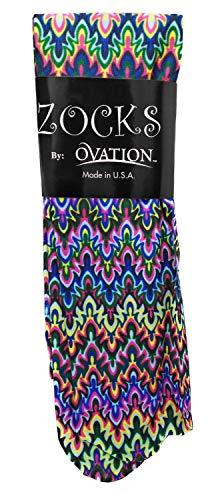 Ovation Zocks Ladies Boot Socks- Blue Fleur Missoni