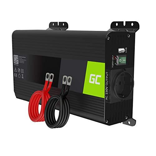 Green Cell PRO 500W/1000W 12V till 230V Ren Sinusvåg Volt Spänningsomvandlare strömomvandlare effektomvandlare Pure Power Inverter DC AC växelriktare effektinverterare omvandlare