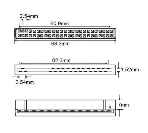 CablesOnline, 6-inch Internal IDC 50-Pin SCSI Drive Extension Ribbon Cable, (FS-E06)