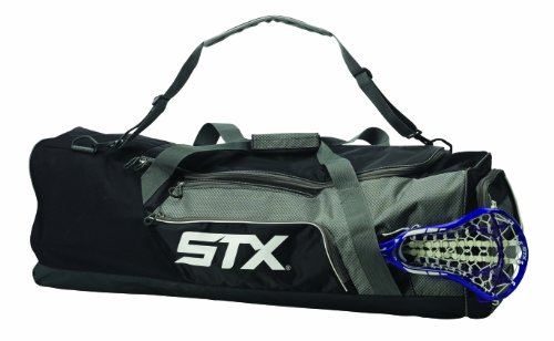 STX Lacrosse Challenger Lacrosse Equipment Bag, Black, 36-Inch