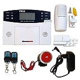 Alarma Hogar AZ017-2 gsm Castellano sin cuotas para casa facil instalacion en español con Ranura para Tarjeta SIM. Aviso con Llamada o Mensajes SMS en Caso de intrusión. No Necesita conexión Internet