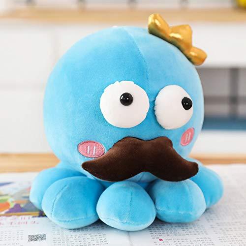 Mooie Cosplay Octopus Knuffels, Gevulde Octopus Poppen, Kinderen Kinderen Baby Verjaardag Valentijnsdag Presenteert 25Cm (Blauw)