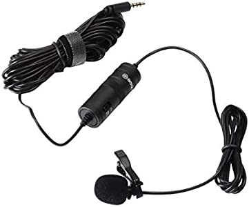 BOYA BY-M1 Omnidirectional Condenser Microphone  20-Feet Audio Cables ...