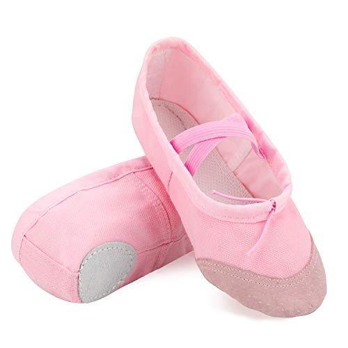 AYPOW Zapatillas de Ballet para Mujer Zapatillas de Baile Zapatillas de Yoga Zapatillas de Pilates Zapatillas de Lona con Suela Dividida Plantas Suaves para niña, Mujeres