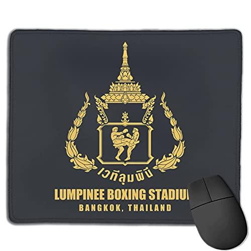 DJNGN Lumpinee Muay Thai Boxing Stadium Bandiera della Thailandia e faccia in tessuto Tappetino per mouse grande con bordo cucito 10*12in Tappetino per mouse strutturato superfine in gomma