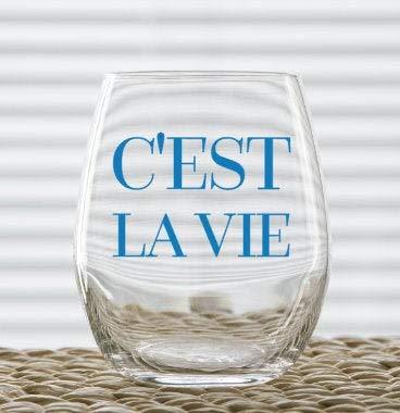 C'est La Vie - Copa de vino de Navidad, 445 ml