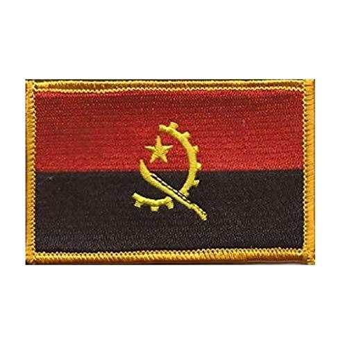 ShowPlus Angola Flagge Patch Militär bestickt Taktischer Patch (Angola)