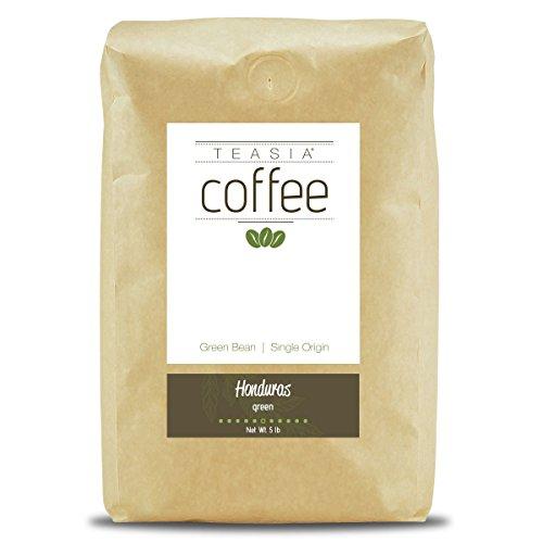 Teasia Coffee, Honduras, Single Origin, Green Unroasted Whole Coffee Beans, 5-Pound Bag