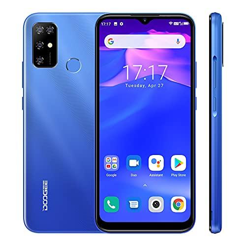 Teléfono Móvil Android 11.0 DOOGEE X96 Pro, Pantalla 6.52 Water-Drop, Octa Core 4GB RAM 64GB ROM Batería 5400mAh, Cámara Cuádruple 13MP, Smartphone Dual SIM, Huella Digital, Azul