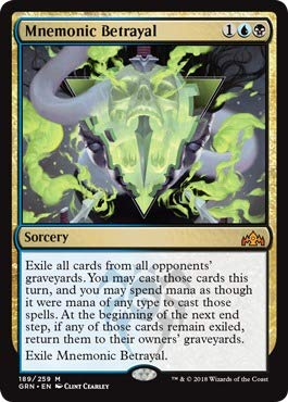 Magic The Gathering - Mnemonic Betrayal (189/259) - Guilds of Ravnica