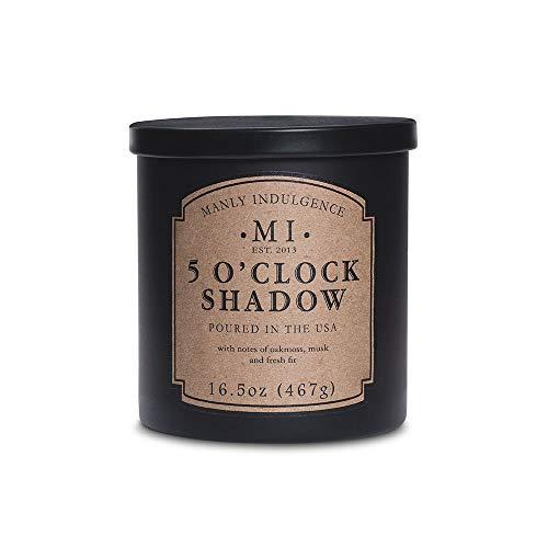 Manly Indulgence 5 O'Clock Shadow Jar Candle, 16.5 oz, Black