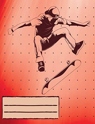 Heelflip Skateboard Composition Notebook: Skateboarding Design College Ruled Lined Pages Book for fans stoked on Skating