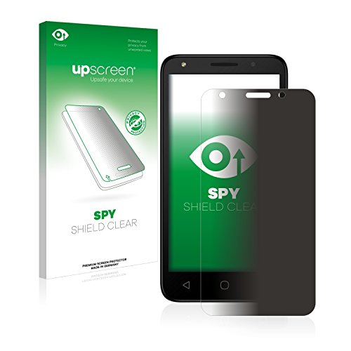 upscreen Anti-Spy Blickschutzfolie kompatibel mit Alcatel Pixi 4 (5.0) 4G Privacy Screen Sichtschutz Bildschirmschutz-Folie