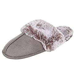 top rated Jessica Simpson's women's comfortable slippers made of faux fur, memory foam seats with non-slip sole, … 2021