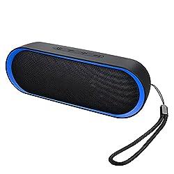Bluetooth v5.0: le enceinte portable adopte la technologie la plus avancée de blutooth 5.0, qui garantit une transmission de la musique plus rapide et plus stable que la v4.2, c'est-à-dire qu'il lit les signaux musicaux avec plus de réalité sans déla...