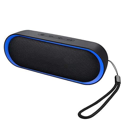 Enceinte Portable Bluetooth 5.0, Haut Parleur Bluetooth 12W, Enceinte Waterproof, 24H de Lecture, avec Microphone, Support AUX/TF, pour Téléphone Portable, Tablette, Soirée, Voyage