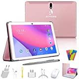 Tablet 10 Pulgadas 128GB Extendida 64GB ROM 4 GB RAM Ultrar-Rápido Android 10.0 Quad Core 8000mAh Tablets 8MP 4G LTE Dual SIM/ WiFi/ Bluetooth/ OTG/ Netfilix - Rosa