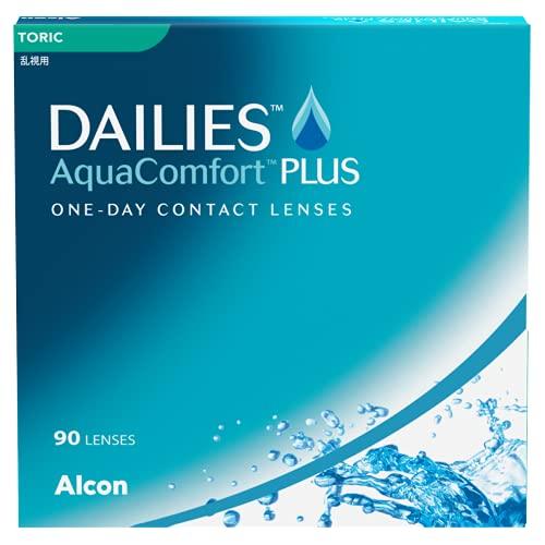 Dailies AquaComfort Plus Toric Lenti a Contatto Giornaliere, 90 Lenti, BC 8.8 mm, DIA 14.4 mm, CYL -1.25, Asse 90, -0.50 Diopt