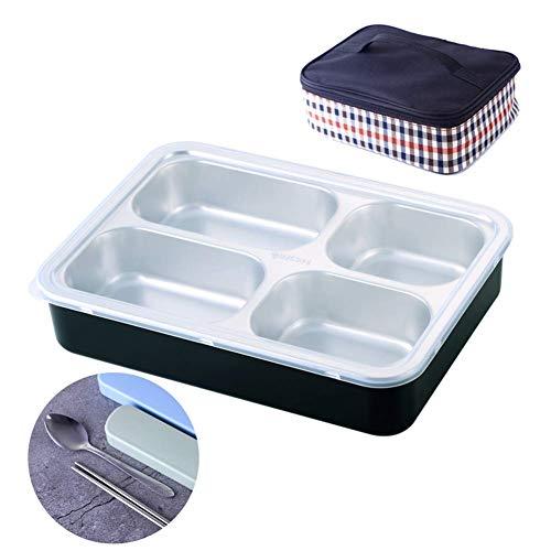 DUDDP Termo para Comida Compartimento Tradicional de Bento Box Compartimento de Almuerzo Bento Box Bento Contenedores de Comida Bento con Juego de Cubiertos Contenedor de Comida