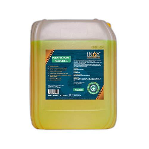 INOX® Desinfektionsreiniger, 5L - Hygiene Reiniger Desinfektionsmittel Oberflächen und Geräte für Toilette, Bad, Fitnessstudio & Solarium