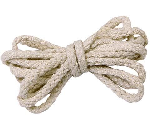 Sadingo Baumwollkordel 7mm, Makramee Garn, weiße Schnur cremefarben, Kordel aus Baumwolle geflochten, 10 Meter am Stück