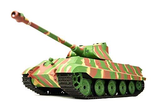 carro armato radiocomandato 'Tedesco Re tigre' 1:16 Heng Long con Fumo e Sound , Ingranaggio in metallo e 2, 4Ghz Comando a distanza -Aggiornato Versione
