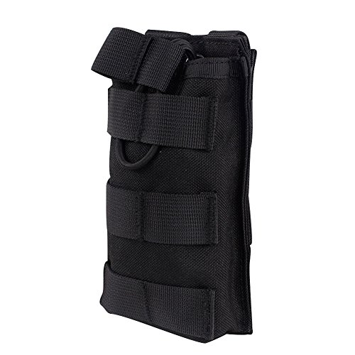 Outry M4 M16 AR-15 Type Magazine Pouch Mag Holder - Triple/Double/Single Airsoft MOLLE Mag Pouch - Open Top Version - Single - Black