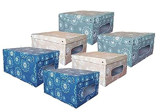 MAURY'S 6 Queen Scatole Box per Armadio in PVC 50x39x24cm Colori Assortiti